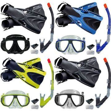 Pro Series Snorkelling Set - Mask, Snorkel, Fins, Net Bag, Mask Box